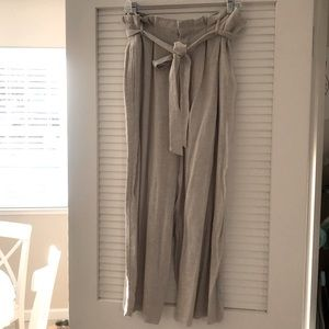 FIRST MONDAY Linen+ Wide-leg Ankle Pants NWOT!